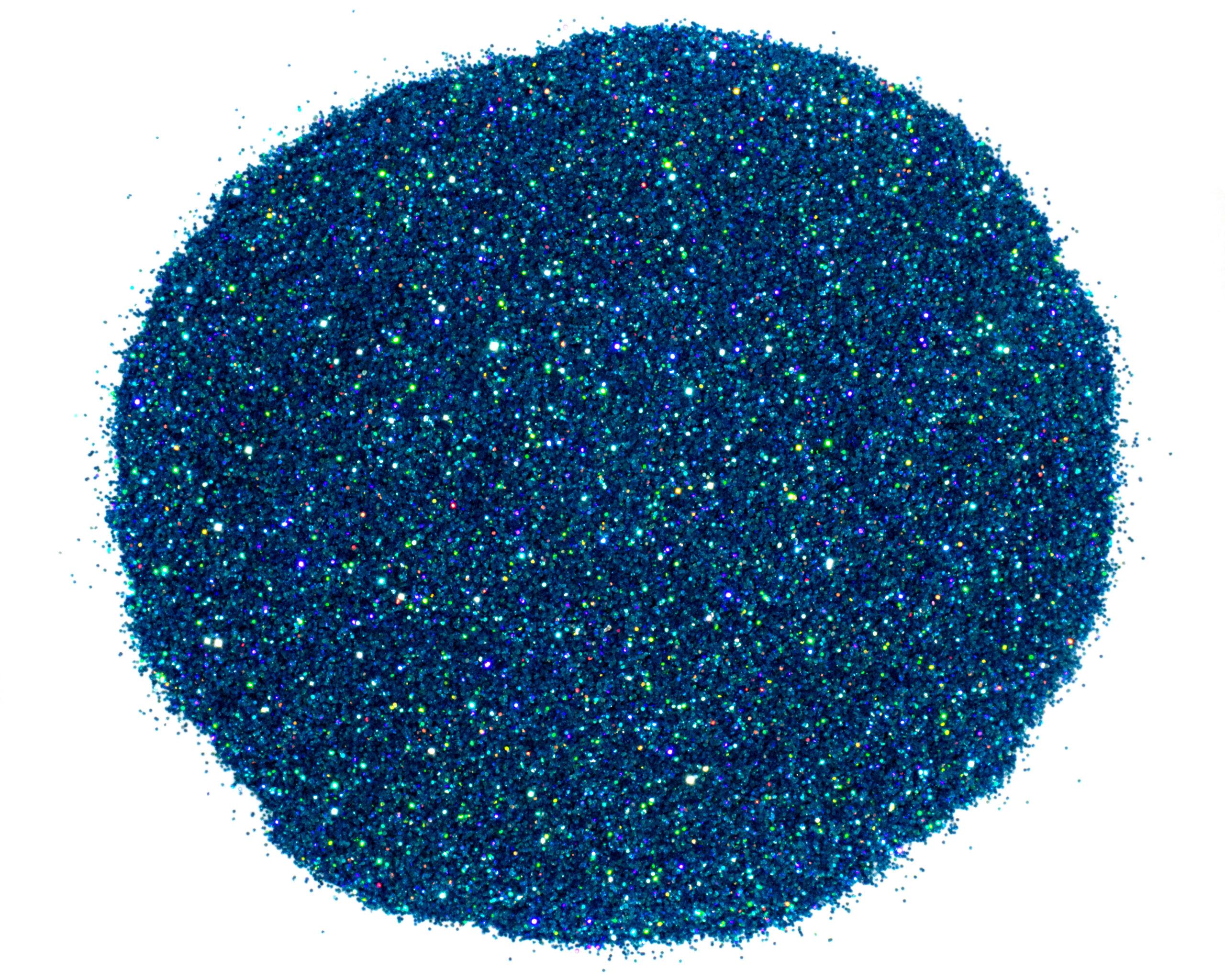 seaside blue glitter