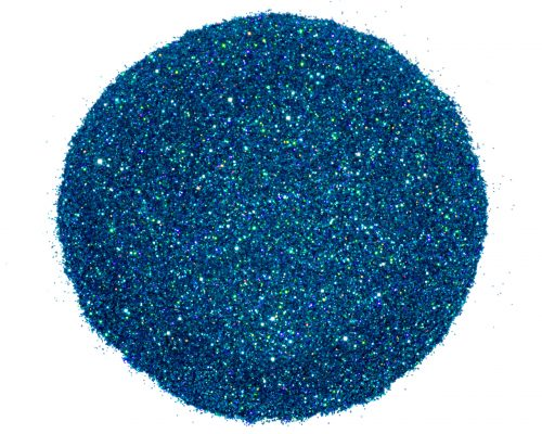 seaside blue glitter