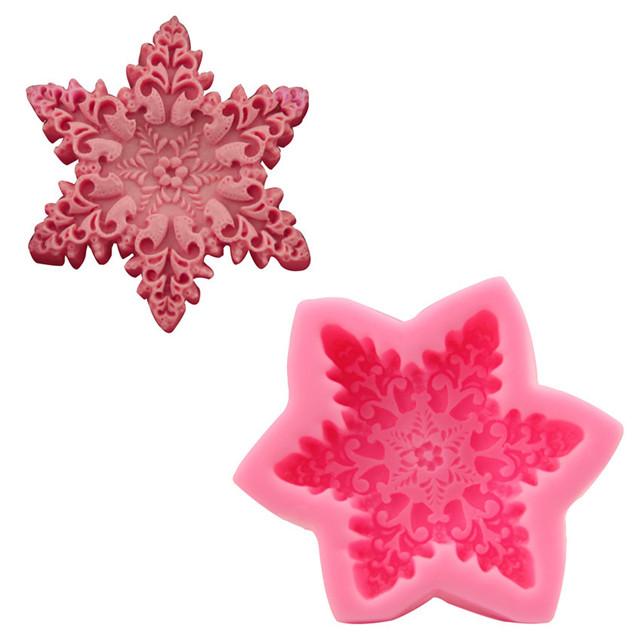 Snowflake Silicone Mold Single Cavity